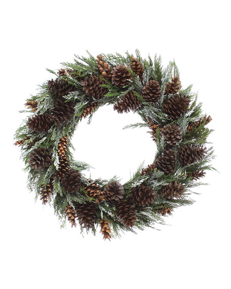 """22"""" Holiday Nature Wreath"""