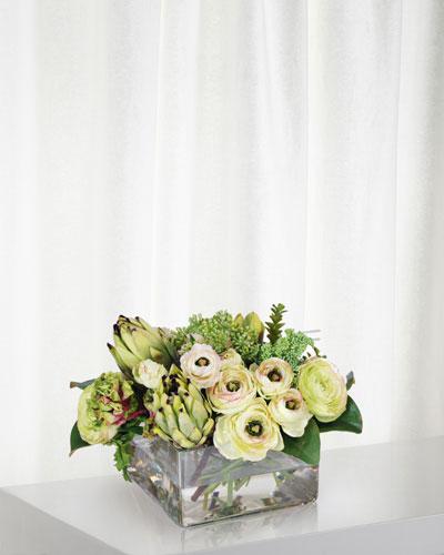 Protea & Ranunculus in Vase