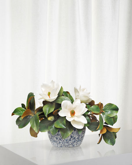 Magnolia Centerpiece in Planter