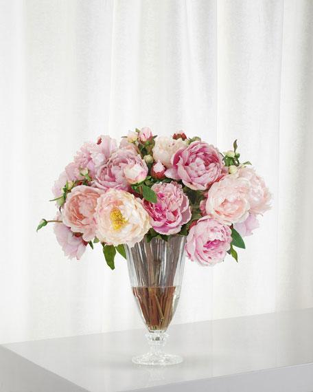 Winward Peony in Glass Vase