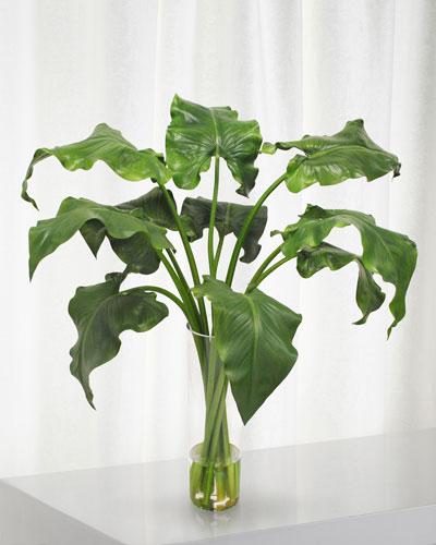 Calla Lily Leaf in Cylinder Vase