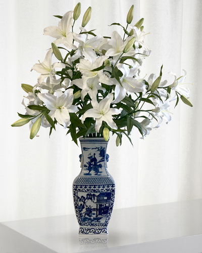 Casablanca Lily in Chinese Vase