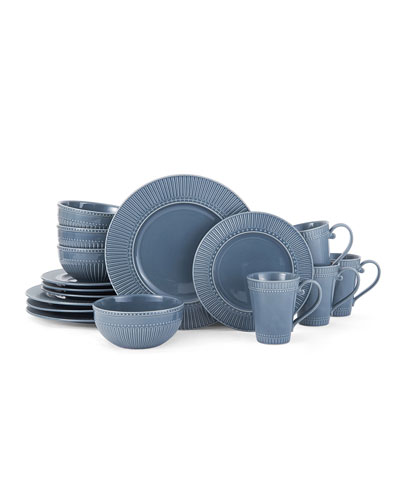 16-Piece Italian Countryside Fluted Dinnerware Set