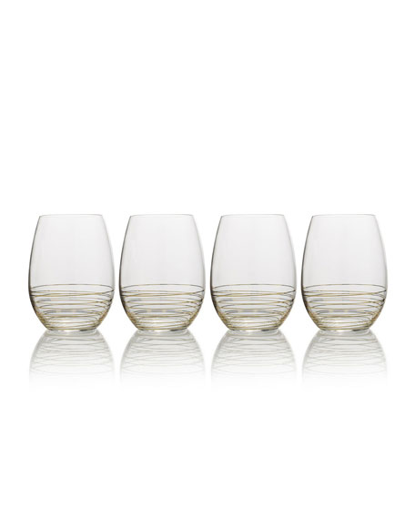 Electric Boulevard Stemless Wine Glasses, Set of 4
