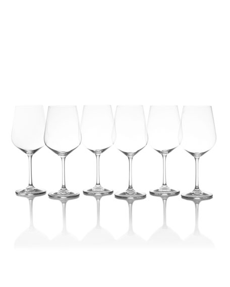 Gianna Red Wine Glasses, Set of 6