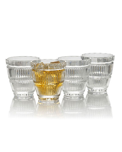 Carroll Gate Double Old Fashioned Glasses  Set of 4