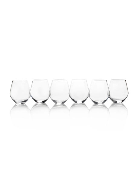 Gianna All Purpose Stemless Wine Glasses, Set of 6