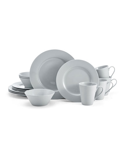 16-Piece Delray Grey Dinnerware Set