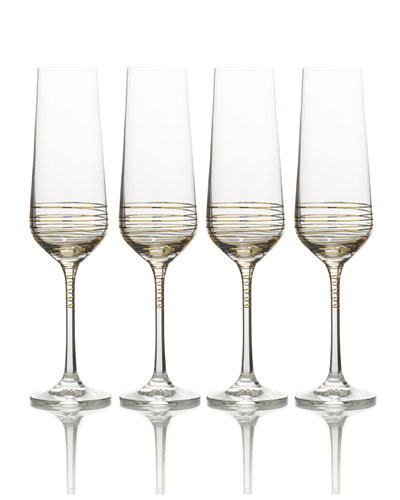 Electric Boulevard Champagne Flutes  Set of 4