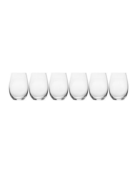 Stiletto Stemless Wine Glasses, Set of 6
