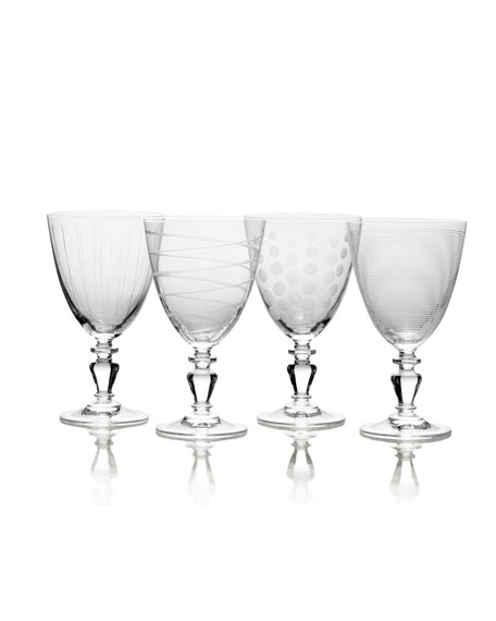 Cheers Vintage Goblets, Set of 4