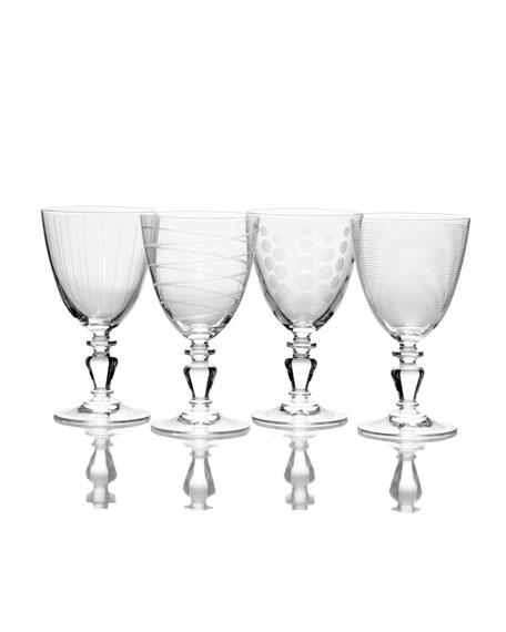 Cheers Vintage Wine Glasses, Set of 4
