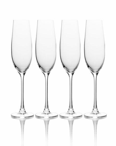 Stiletto Champagne Flutes, Set of 6