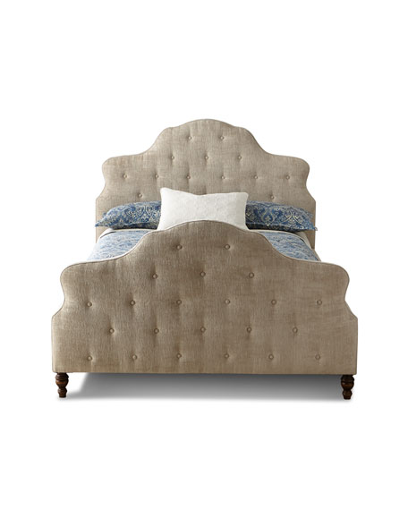 Elisha Button-Tufted Queen Bed