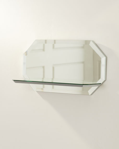 Octagon Wall Shelf Mirror - Horizontal