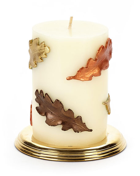 MacKenzie-Childs Fall Leaves Pillar Candle