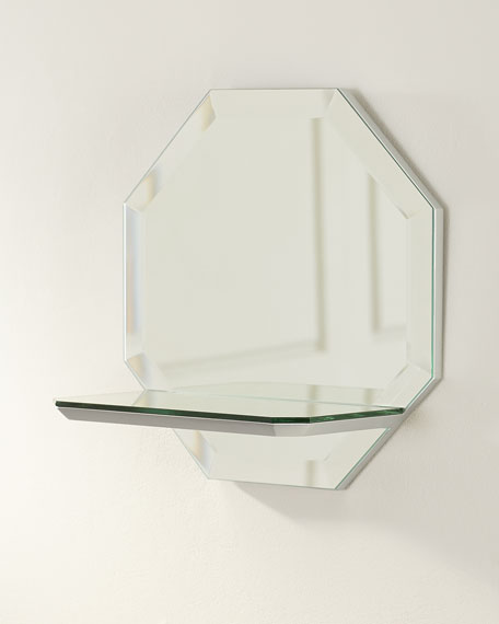 Octagon Wall Shelf Mirror - Square