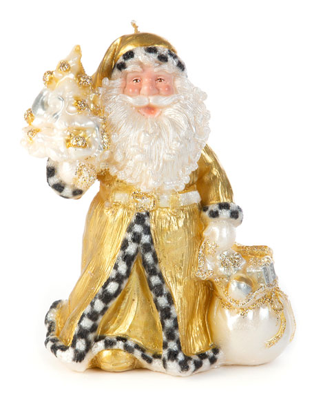 MacKenzie-Childs Night Before Christmas Santa Candle