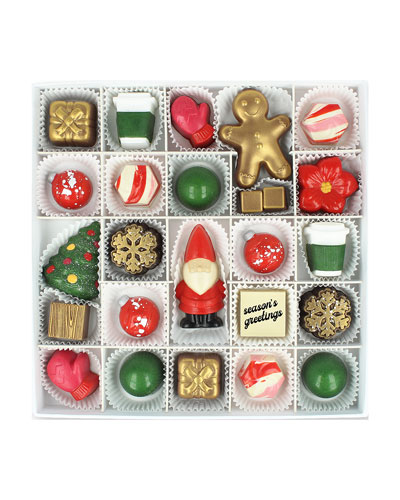 25-Piece Seasons Greetings Chocolate Gift Box