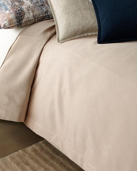 Fino Lino Linen & Lace Nacre King Coverlet