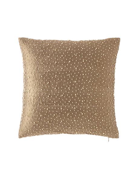 "Juniper Pearly Silk Pillow, 17"""