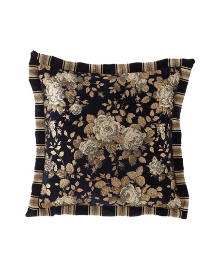 Austin Horn Collection Juniper Flanged Pillow, 18