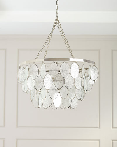 Textured Glass Chandelier