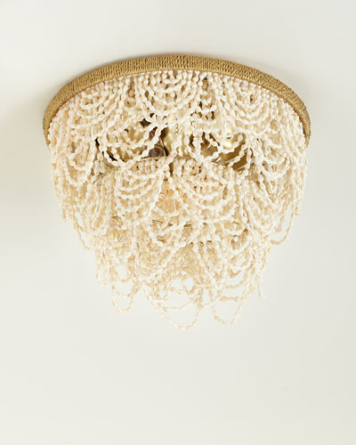 Martha Palay Shell Flush Mount