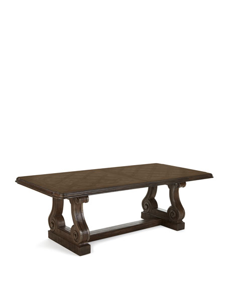 Woodlands Double Pedestal Dining Table