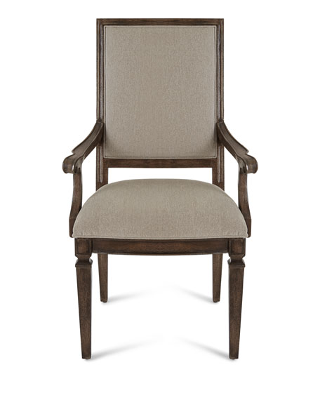 Woodlands Carved Back Arm Chairs, Set of 2