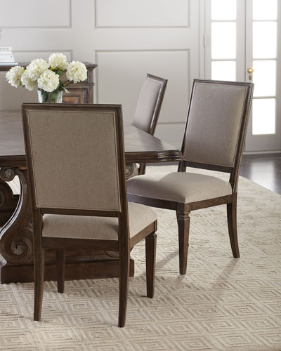 Upholstered Side Chairs  Set of 2