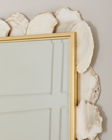 Fossilized Clam Rectangular Mirror