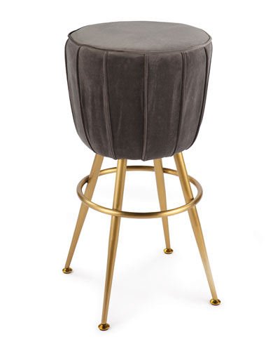 Elie Velvet Bar Stool