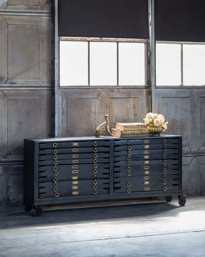 Printmakers 12-Drawer Console