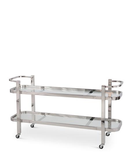 Carter Stainless Steel Bar Cart
