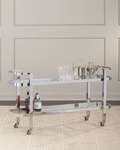 Carter Stainless Steel Bar Cart