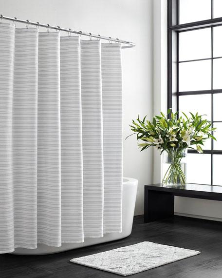Textured Stripe Shower Curtain