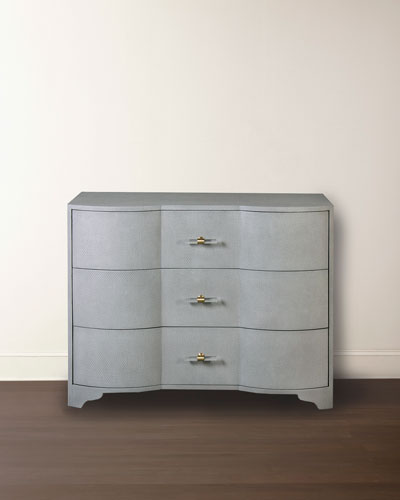 Norse 3-Drawer Grasscloth Chest