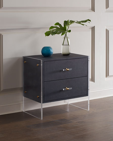 Carson Faux Shagreen Side Table