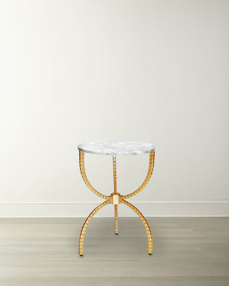 Pamella Gold Leaf Accent Table