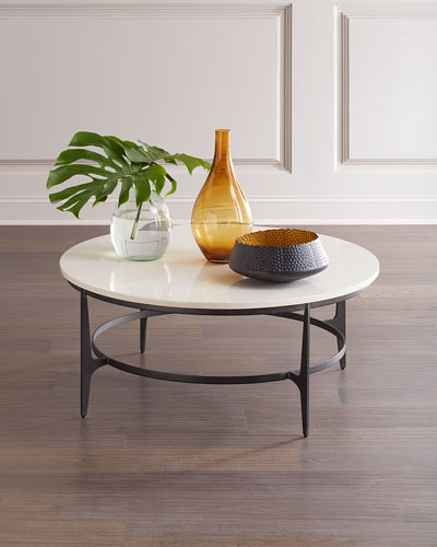 Avondale Round Metal Coffee Table