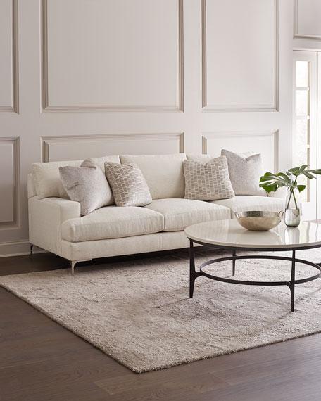 """Carver Ivory Sofa, 95"""""""