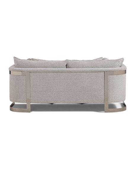 "Baldwin Stainless Steel Frame Sofa, 82"""