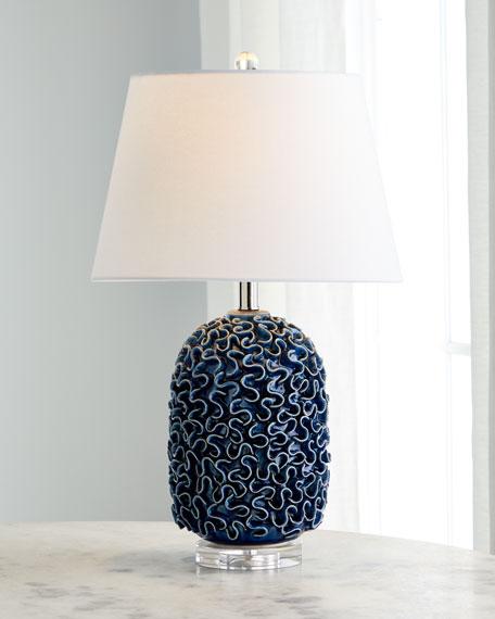 Ceramic Ruffle Table Lamp