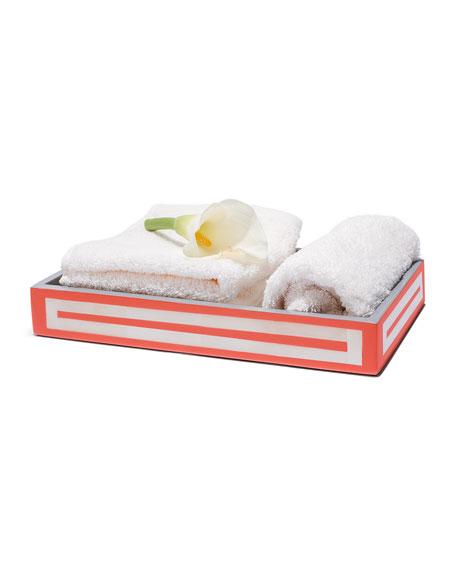 Coral & Bone Bath Tray