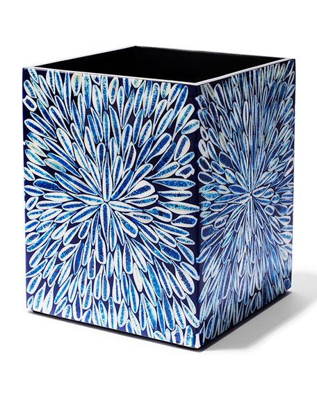 Blue Almendro Wastebasket