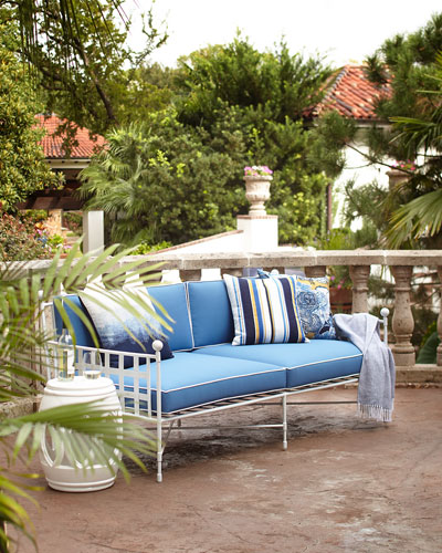 Avery Sofa  White/Blue