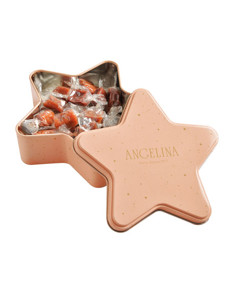 Angelina Special Edition Star Tin with 24 Caramels