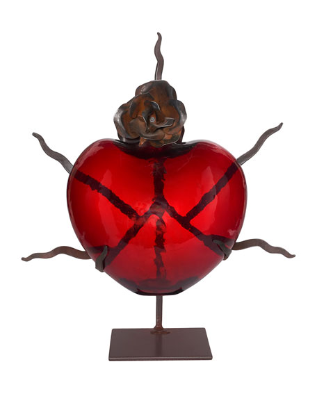 Jan Barboglio Catarina Heart & Rose Sculpture