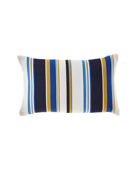 Harbor Stripe Indoor/Outdoor Lumbar Pillow